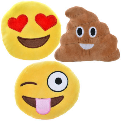 "Emoji Plush Toys, (assorted) 5.5"", each"