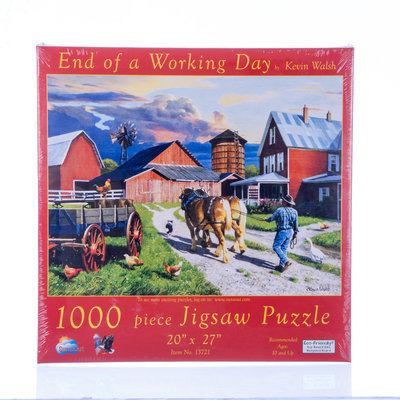"""End of Work Day"" 1000 piece 20"" x 27"" Jigsaw Puzzle"