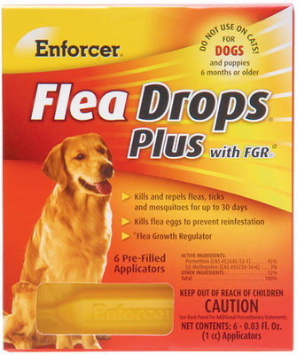 Enforcer Flea Drops Plus w/ FGR, 6 tubes