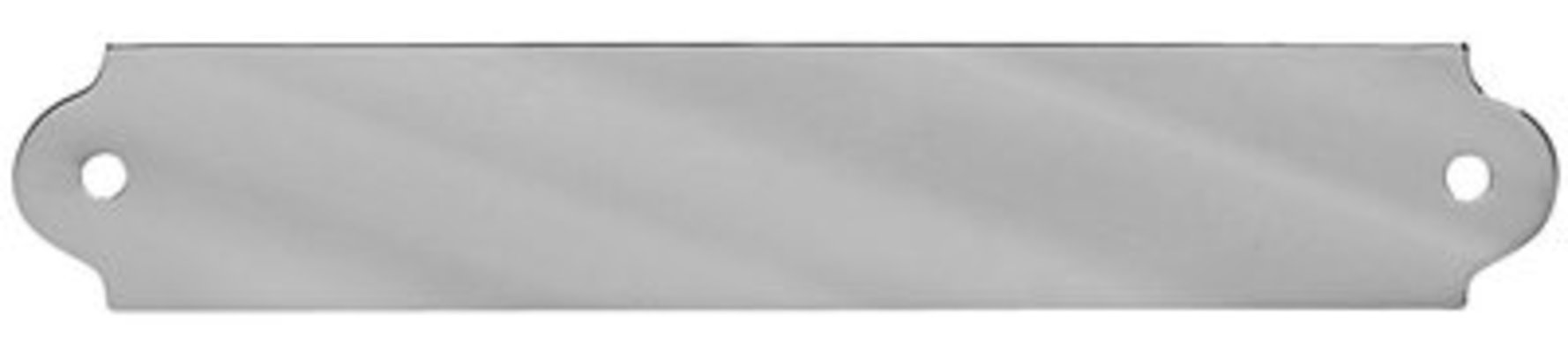 "4-1/4"" x 3/4"" Chrome English Style Name Plate"