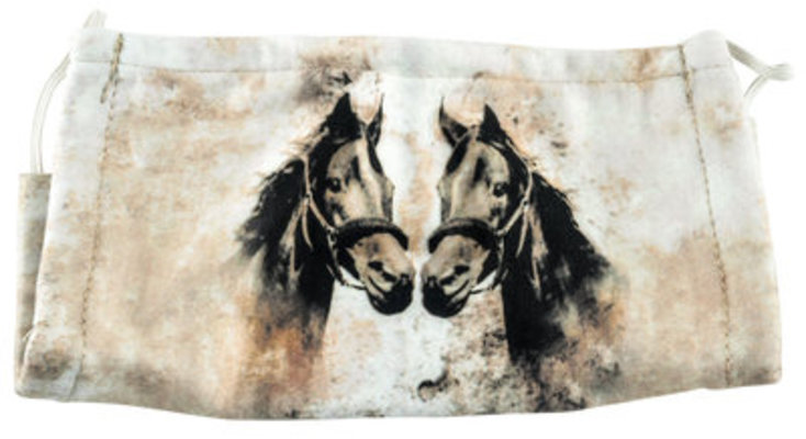 Equestrian Cotton Face Mask
