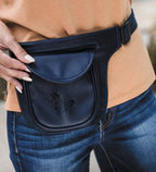 Equestrian Treat Pouch, Black