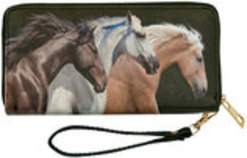 Equestrian Zippered Wristlet Wallets
