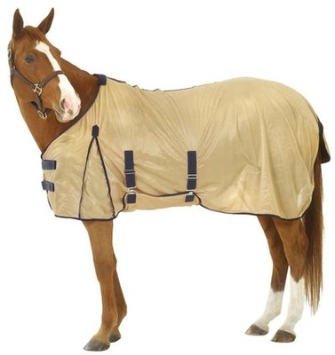 Equi-Essentials Softmesh Fly Sheet, Tan/Navy