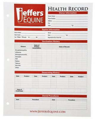 Equine Health Records, each