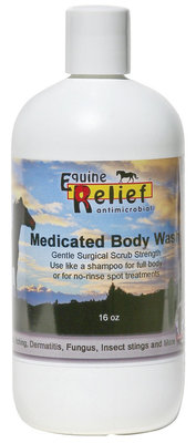 Equine Relief Antimicrobial Medicated Body Wash, 16 oz