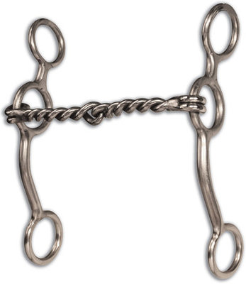 Equisential Performance Long Shank Bit, Twisted Wire Snaffle