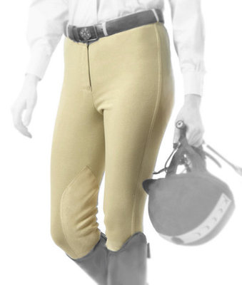 Equistar Child's Front-zip Knee Patch Breeches