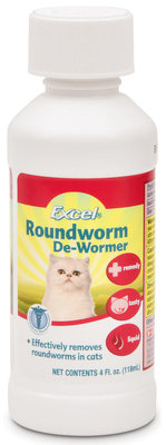 Excel Roundworm De-Wormer Liquid for Cats