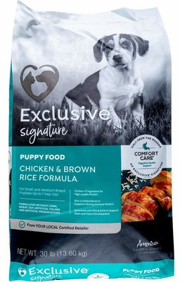30 lb Purina Exclusive Chicken/Brown Rice Puppy Food