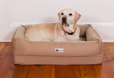 EZ-Wash Fleece Lounger Memory Foam Dog Bed, Large