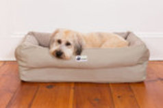 EZ-Wash Fleece Lounger Memory Foam Dog Bed, Medium