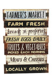 Farmer's Market Wood & Metal Wall Sign