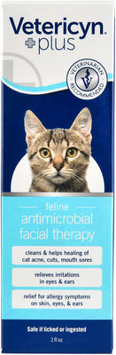 Feline Antimicrobial Facial Therapy