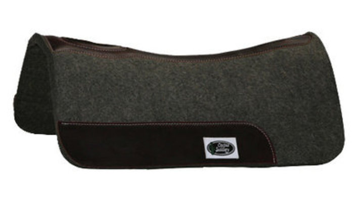 "Cactus Felt Barrel Saddle Pad, Gray (28"" x 28"")"