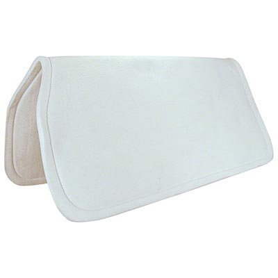 "Reinsman 1/2"" Felt Saddle Pad, White,  30"" x 30"""