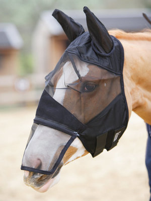 Fine Mesh Fly Mask w/ Ears & Removable Nosepiece