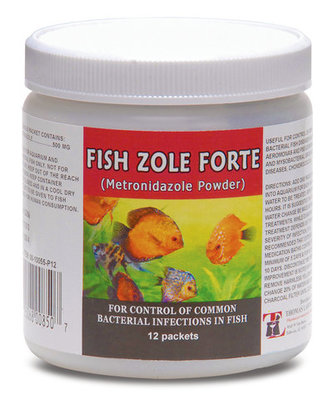 Fish Zole Forte (Metronidazole, 500 mg) Powder Packets