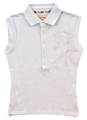 Flamboro Sleeveless Polo, White