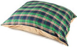 Flannel Dog Bed with Zipper
