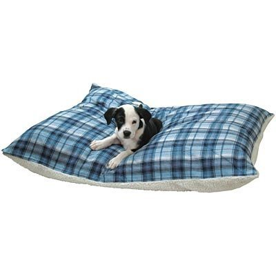 Flannel Sherpa Bed, Blue Plaid