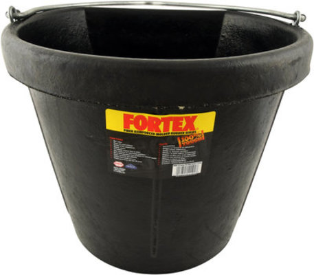 18 Quart Flatback Rubber Bucket