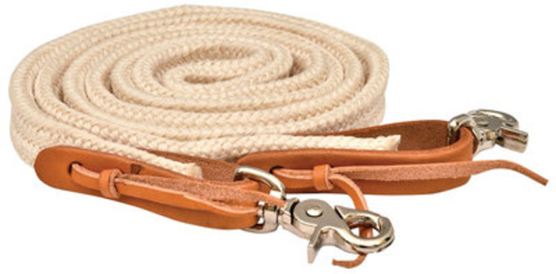 "Flat Braided Poly Roping Rein, 1"" x 7'"