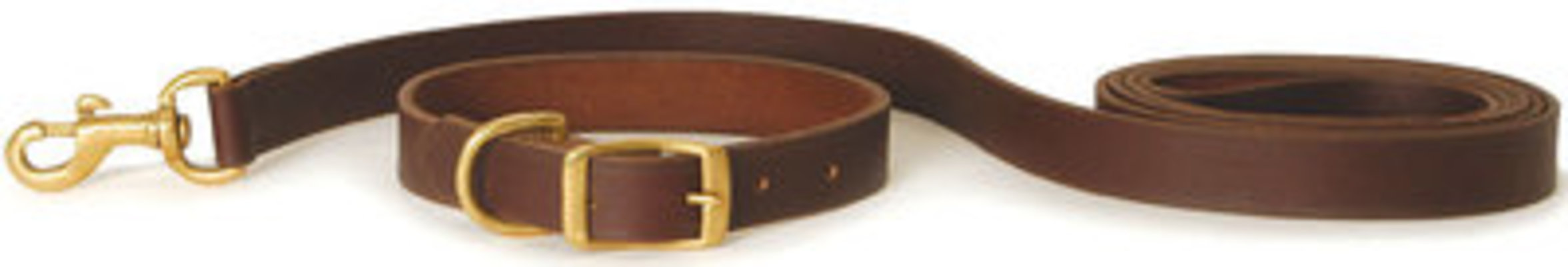 "6' Flat Leather Leash, 3/4"" W"