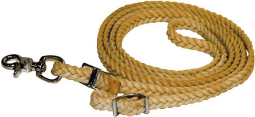 "Waxed Barrel Racing/Roping Reins, ¾"" x 8'"