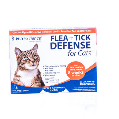 FLEA+TICK DEFENSE for Cats (3 Pack)