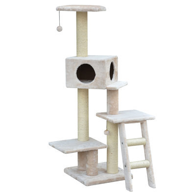 Fleece Cat Condo, Natural Color