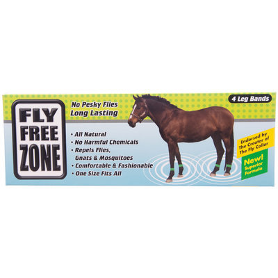 Fly Free Zone Horse Leg Bands