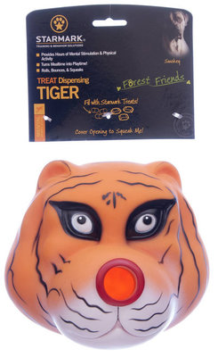 "6.75"" Tiger Treat Dispensing Toy"