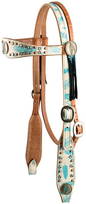 Freedom Feather Browband Headstall