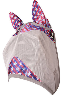 """""""Freedom"""" Patterned Crusader Fly Mask w/ Ears"""