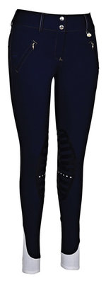 George H Morris Derby Silicone Knee Patch Women's Breeches
