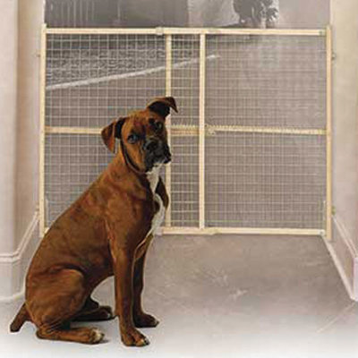 "Tall Wire Mesh Gate, 32"" tall"