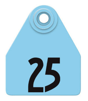 Allflex Global Numbered Ear Tags (Medium), 25 count