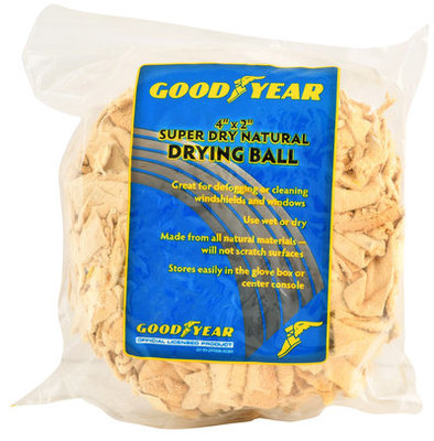Goodyear Super Dry Natural Drying Chamois Ball, 4 x 2