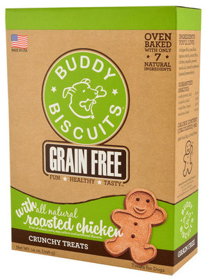 Grain-Free, Oven-Baked Buddy Biscuits, 14 oz
