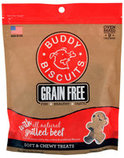 Grain Free Buddy Biscuits, Soft and Chewy Treats, 5 oz