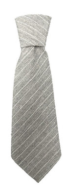 Gray Stripe Necktie