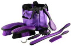 Great Grips Horse Grooming Set with Bag, 7-piece
