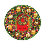 Green & Gold Wreath, 1000-piece Round Jigsaw Puzzle
