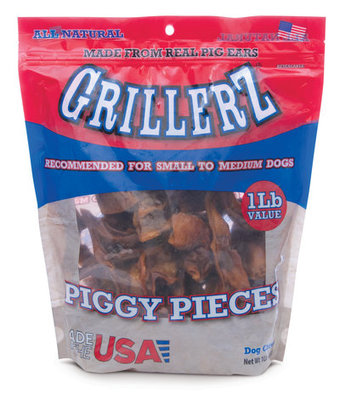 Grillerz Smoked Piggy Ear Pieces, 1 lb