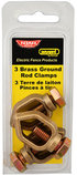 Brass Grounding Rod Clamps, 3 pack