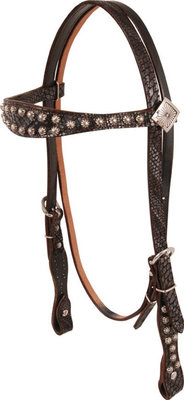 Gyspy Soule Black Metallic Headstall