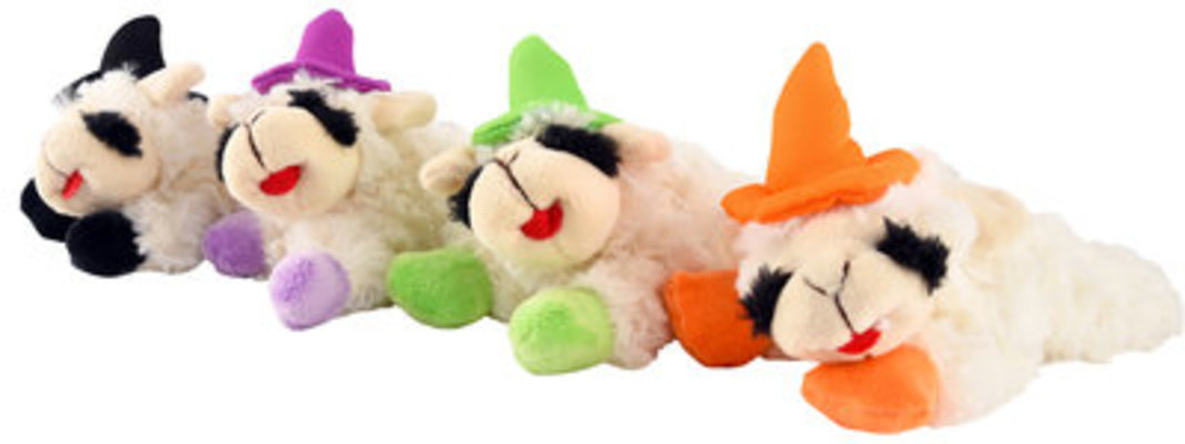 """Witch Halloween Lamb Chop Dog Toy, 6"""""""