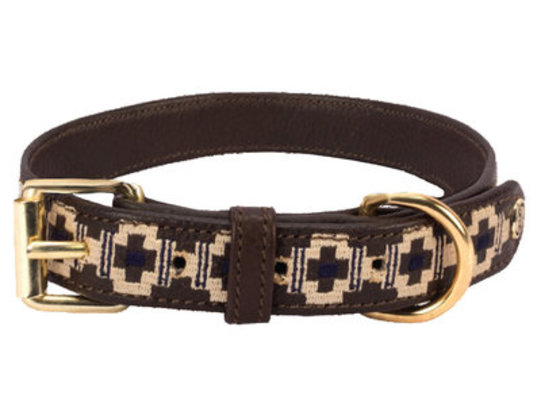 HALO CAM Embroidered Leather Dog Collar