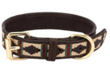 HALO Classic Embroidered Leather Dog Collar